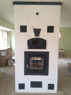 Double Bell Masonry Heater